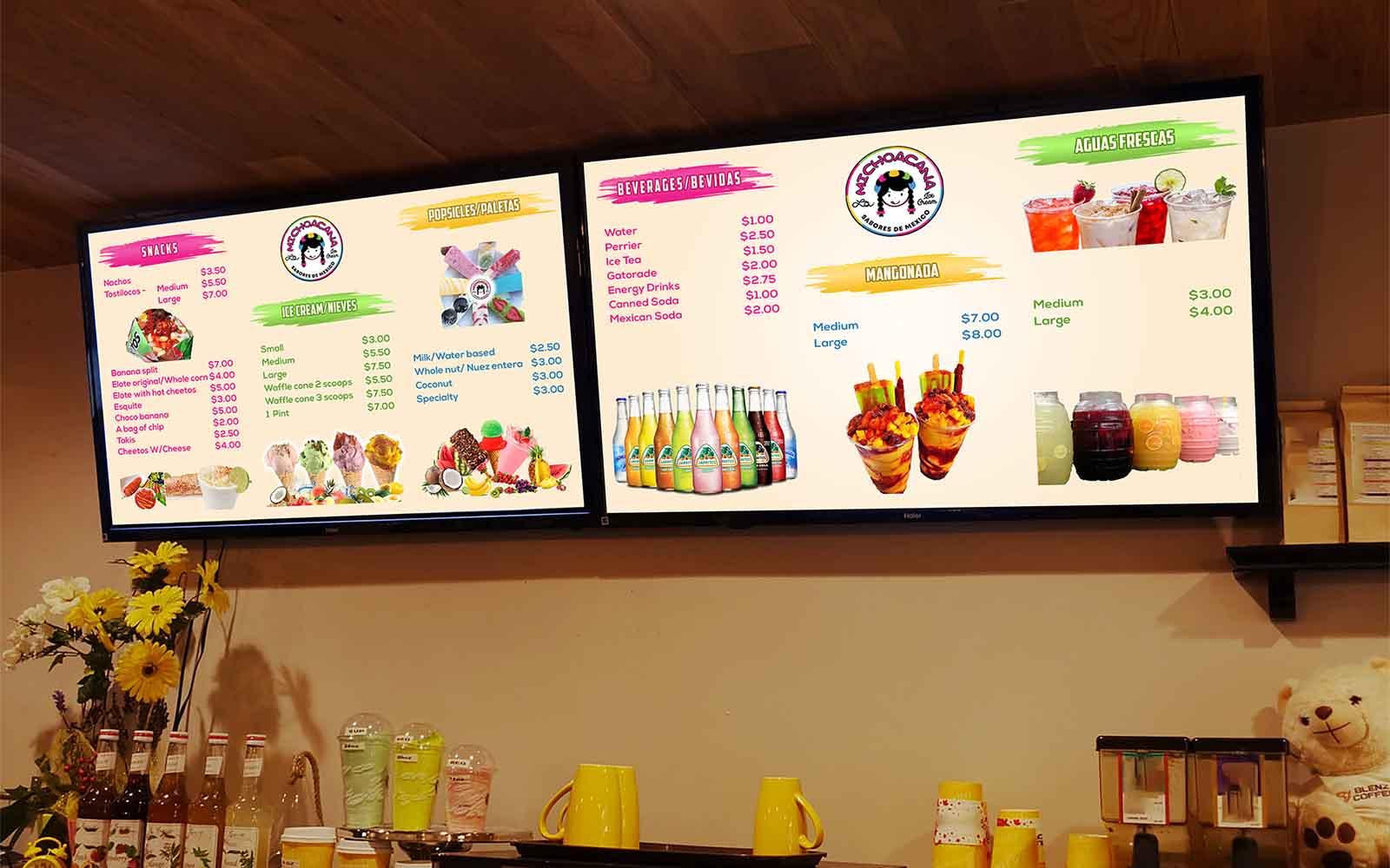 Restaurant Menu Design, TV Screen Menu, Digital Menu Design, Shuvo Mallick